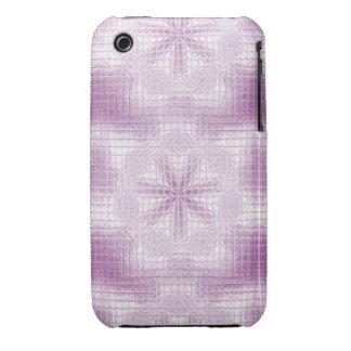 O mosaico floresce claro - caixa roxa do iPhone Capa Para iPhone 3