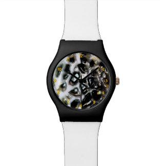 O mosaico gosta da colmeia do Cantaloupe preto e Relógio
