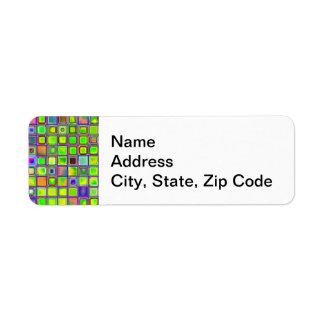 """O mosaico rústico """"argila"""" do verde limão telha o  etiqueta endereço de retorno"""