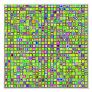 """O mosaico rústico """"argila"""" do verde limão telha o  impressão de foto"""
