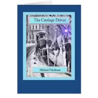 O motorista da carruagem um cartão bonito