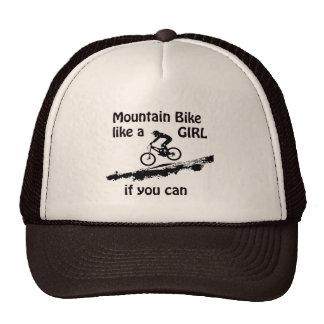 O Mountain bike gosta de uma menina Boné