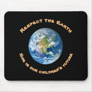 O Mousepad futuro das crianças do respeito da