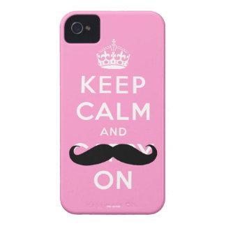 O Moustache preto cor-de-rosa engraçado mantem o Capinhas iPhone 4