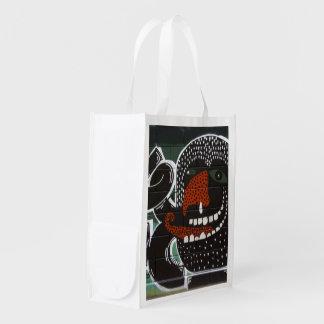 O muco é grafite saboroso sacolas ecológicas