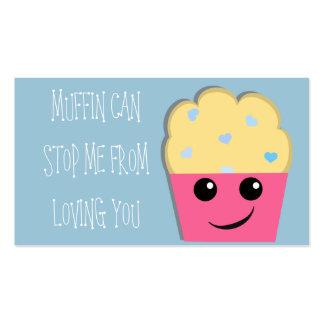 O muffin pode parar-me mini namorados cartão de visita