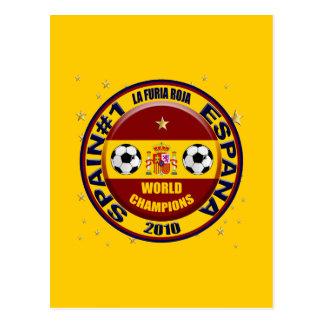 O mundo 2010 da espanha patrocina o futebol do cartão postal