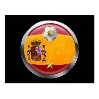 O mundo 2010 da espanha patrocina presentes de uma cartão postal