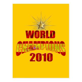 O mundo da espanha patrocina 2010 cartão postal