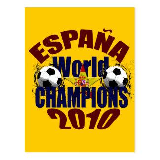 O mundo de Espana patrocina a bandeira da espanha Cartao Postal