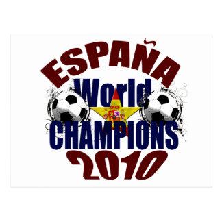 O mundo de Espana patrocina a bandeira da espanha Cartão Postal
