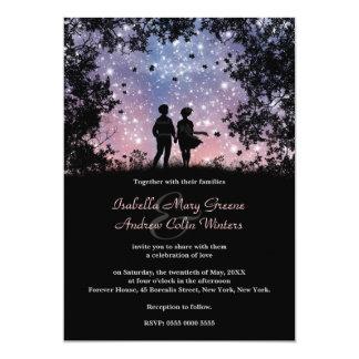 O mundo é nosso - versão de Borealis - casamento Convite 12.7 X 17.78cm