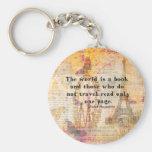 O mundo é um livro e aqueles que não viajem chaveiro