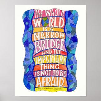 O mundo inteiro é um poster estreito da arte da po pôster