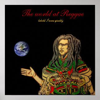 O mundo na reggae pôsteres