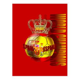 O mundo patrocina o futebol 2010 da espanha cartão postal