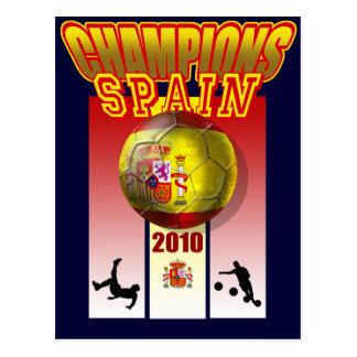 O mundo patrocina o futebol 2010 de Espana da Cartão Postal