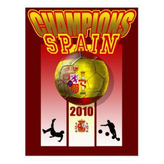 O mundo patrocina o futebol 2010 de Espana da espa Cartões Postais