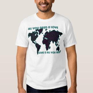 O mundo todo que de Beatles você precisa é amor Camiseta