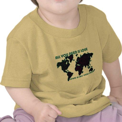 O mundo todo que de Beatles você precisa é amor Camisetas