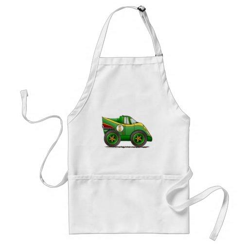 O mundo verde fabrica aventais do carro do campeon
