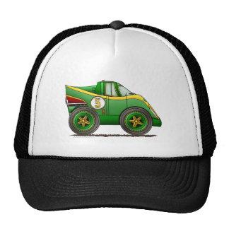 O mundo verde fabrica chapéus do carro do campeona bones