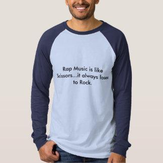 O música rap é como tesouras t-shirt