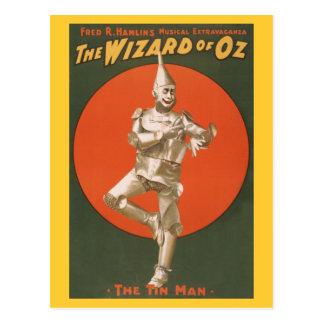 O Musical de mágico de Oz - homem da lata Cartão Postal