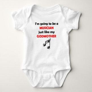 O músico gosta de minha madrinha t-shirt