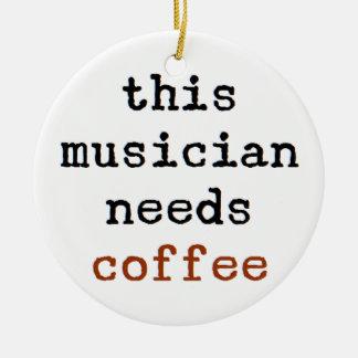 o músico precisa o café ornamento de cerâmica