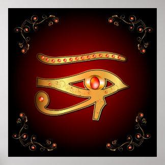 O mystical todo o olho de vista impressão