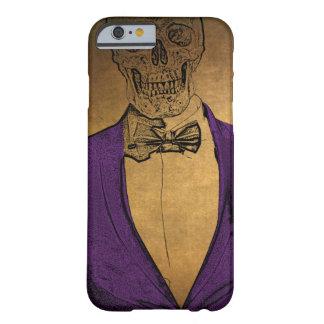 O na moda desossa o esqueleto em um terno capa barely there para iPhone 6