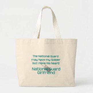 O namorada da guarda nacional tem seu coração sacola tote jumbo