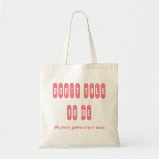 O namorada do livro está inoperante sacola tote budget