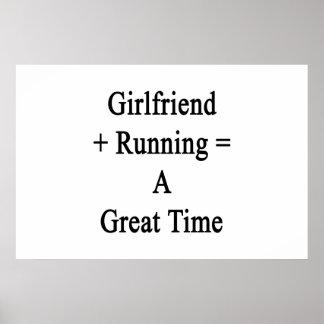 O namorada mais o funcionamento iguala uma grande poster