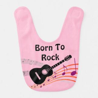 O nascer bonito à música rock nota o bebé da babadores para bebes