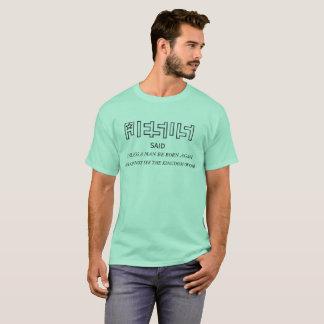O NASCER claro do LOGOTIPO da ESTRELA de JESUS Camiseta