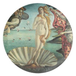 O nascimento de placas de Venus Botticelli Louças De Jantar