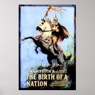 O nascimento de um cartaz cinematográfico 1915 do  poster