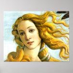 O nascimento de Venus - detalhe Posters