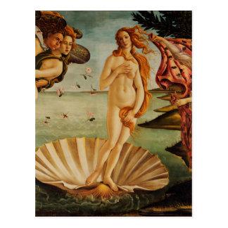 O nascimento de Venus por Sandro Botticelli Cartão Postal