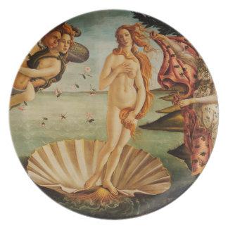 O nascimento de Venus por Sandro Botticelli Pratos