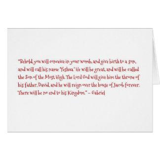 O nascimento de Yeshua Cartão Comemorativo