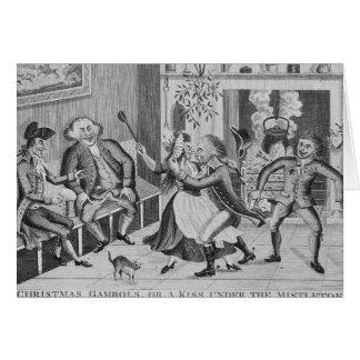 O Natal cabriola, ou um beijo sob Cartão