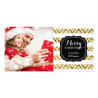 O Natal Chevron listra o ouro lunático Cartão