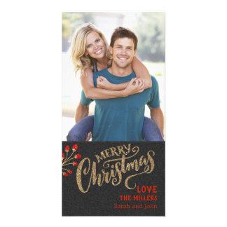 O Natal cintilante dilui o cartão com fotos