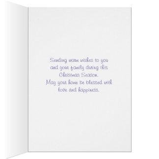 O Natal colorido deseja o cartão