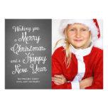 O Natal da foto do feriado do quadro deseja o cora Convite Personalizados