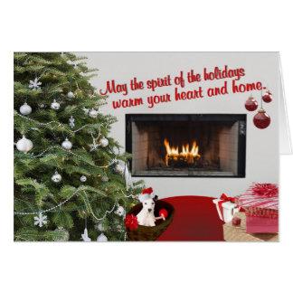 O Natal de Jack Russell deseja o cartão