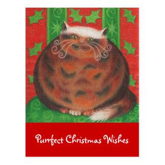 """O Natal de Pud """"Purrfect do Natal deseja"""" o cartão"""